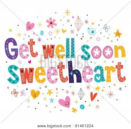 Get well soon sweetheart greeting card