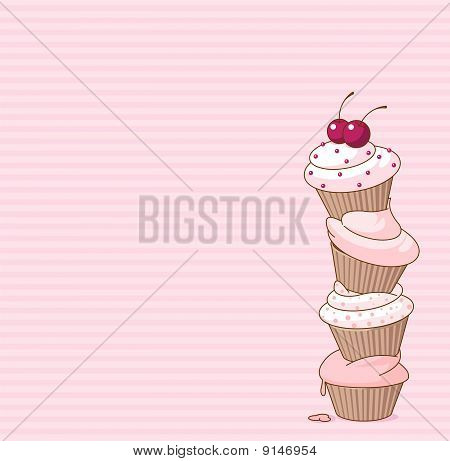 Wonderful Cupcake Card