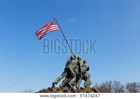 Marine Corps War Memorial in Washington DC