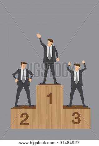 Winners Of Business Competition Conceptual Vector Illustration