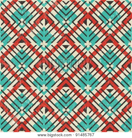 Retro geometric pattern. Abstract seamless background.