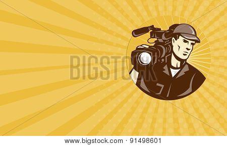 Business Card Cameraman Film Crew Pro Video Movie Camera