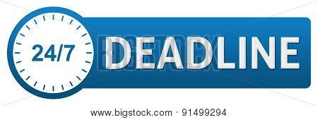 Deadline With Clock Horizontal