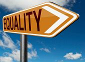 equality road sign and solidarity equal rights and opportunities no discrimination  poster