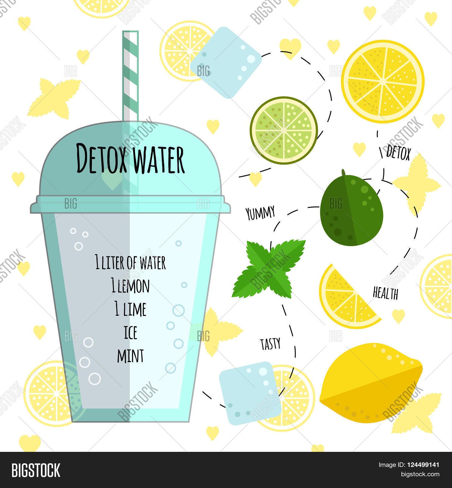 Recipe Detox Water Vector Photo Free Trial Bigstock