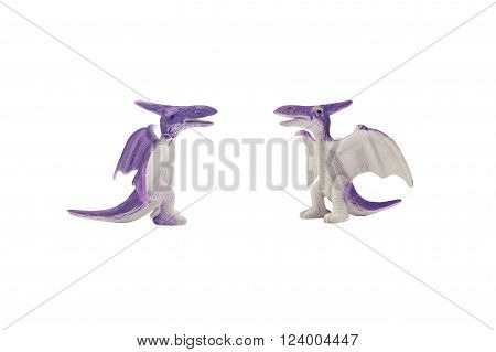 Isolated pterodactyl toy photo. Isolated pterodactyl toy side and angle view photo.