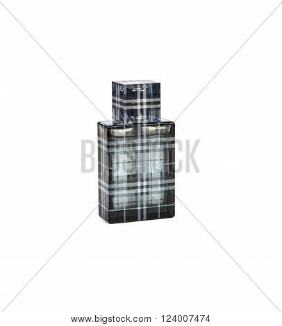 MONTREAL CANADA - MARCH 20 2016 - Burberry perfume bottle. Burberry is a British luxury fashion house headquartered in London.