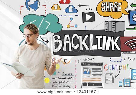 Backlink Hyperlink Internet Connection Online Network Concept