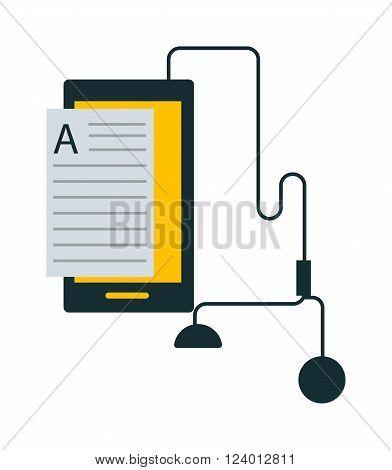 Audio books vector illustration. Audiobooks isolated on white background. Audio books vector icon illustration. Audiobooks isolated vector. Audio books silhouette