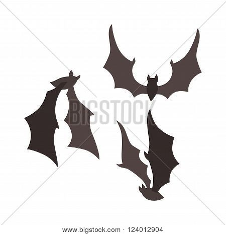 Vampire bat vector illustration. Vampire bat isolated on white background. Vampire bat vector icon illustration. Vampire bat isolated vector. Vampire bat silhouette