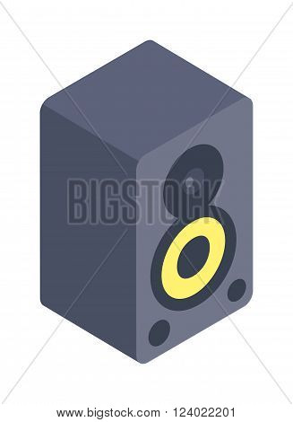 Stereo system isolated on white background illustration. Audio system, music center on white . Stereo system. illustration of a music center. Boombox. Stereo system technology.