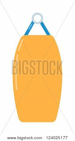 Punching bag flat illustration. Punching bag training equipment. illustration of punching bag. Punching bag boxing sport equipment. Punching bag flat . Gym sport equipment.