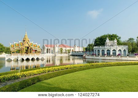 Bang Pa-In Royal Palace Ayutthaya Thailand .