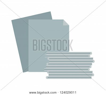 Paper stack vector. Paper stack illustration. Paper stack isolated on white. Paper stack icon, Paper stack isolated. Paper stack silhouette. Paper stack flat style. Paper stack office, paper stack for design