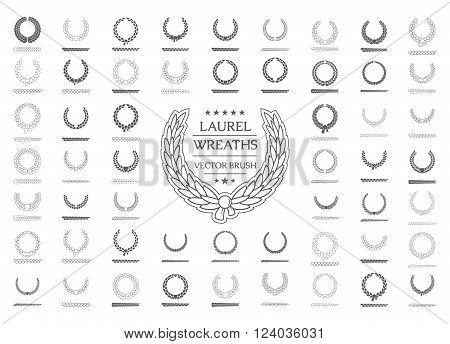 Design element wreath. Laurel wreath Icon Vector. Laurel wreath Icon JPG. Laurel wreath Icon Art. Laurel wreath Icon Image. Laurel wreath Icon AI. Laurel wreath Icon Drawing.Icon set. Vector  brush.