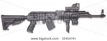Well known contemporary AK-47 kalashnikov assault rifle.