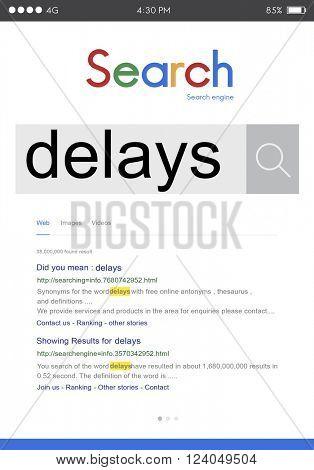 Delays Interruption Late Postponed Suspend Concept