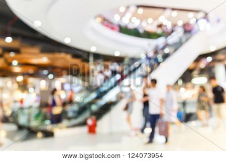 Blur People Shopping In Department Store
