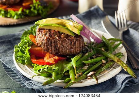 Fresh Grilled Paleo Hamburger