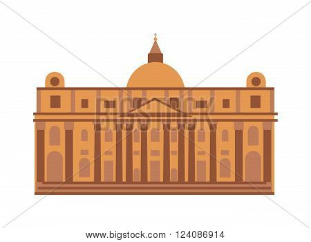 Royal palace architecture building and royal palace travel tourism square. Famous history royal place spanish facade. Royal palace at Madrid Spain architecture building landmark vector.