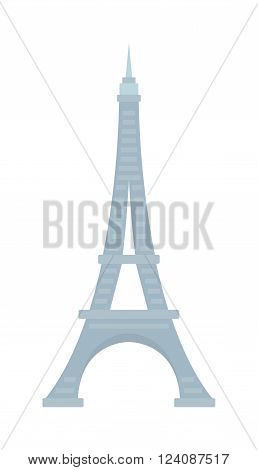 Eiffel Tower architecture and romantic eiffel tower place. Eiffel tower french construction and urban metal high flat eiffel tower. Eiffel Tower Paris France landmark architecture vector illustration.