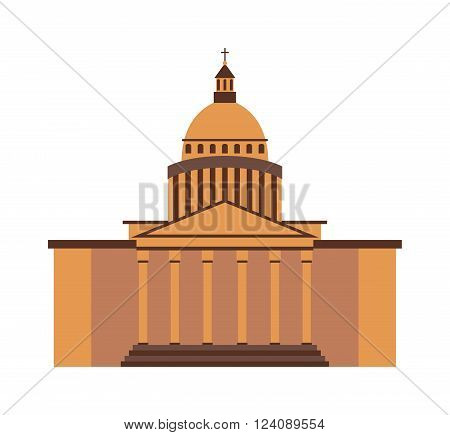 White house landmark government and architecture president white house. White house america history monumental political symbol. White house washington DC United States landmark government vector.