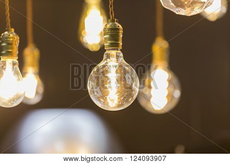 Led Light Bulb Hang From Ceiling