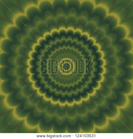 Psycho floral pattern generated green waved texture