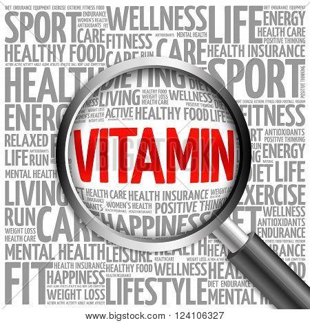 Vitamin Word Cloud