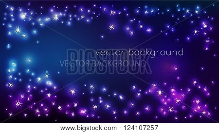 Vector constellation frame in space. Stock illustration of star frame for design