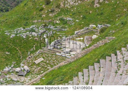 Theatre of Pergamon Bergama Izmir Province Turkey