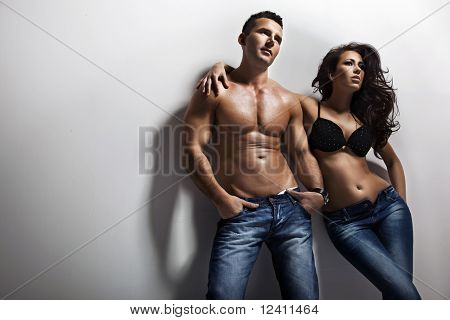 Fashion shoot of a sexy couple