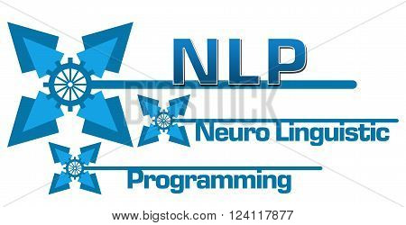 NLP and its full form written over blue abstract background.