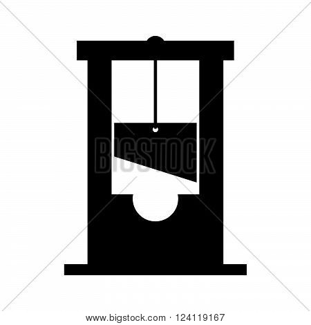 Guillotine on white background ( shade picture )