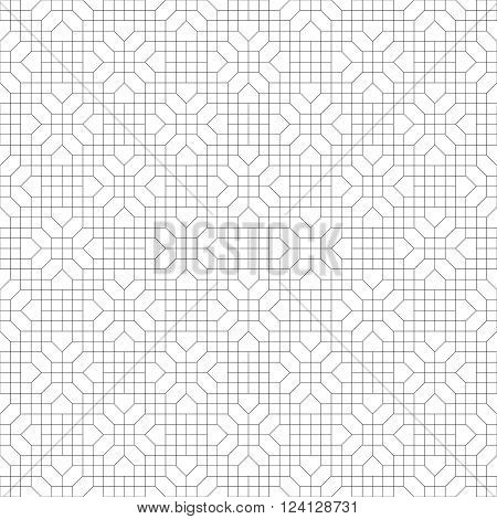 Seamless pattern. Modern stylish texture. Regularly repeating geometrical pattern with hexagon polygon rhombus polygonal shapes. Vector abstract seamless background
