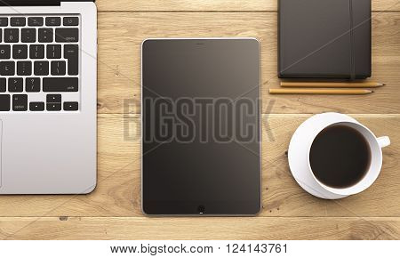 Laptop And Gadgets On Table