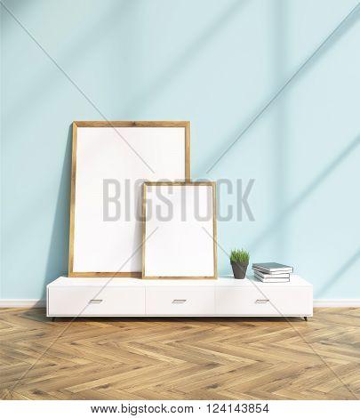 Frames On Shelf