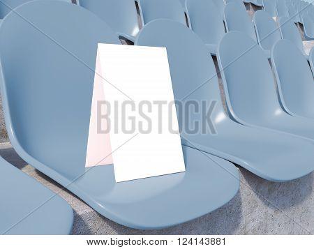 Placard At Stadium