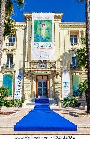 Cannes, France, - March 1, 2016: Museum La Malmaison Promenade de la Croisette The Croisette Cannes France Cote d'Azur