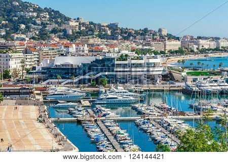 Panoramic View Of Cannes, France.