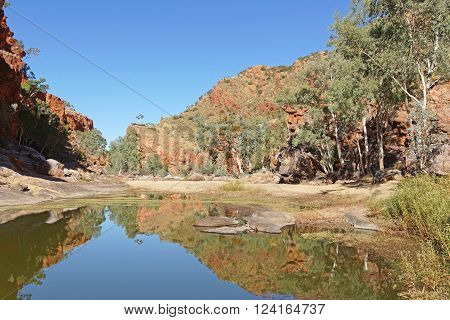 ALICE SPRINGS, AUSTRALIA - Mai 1, 2015: Ormiston Gorge, Landscape of West MacDonnell National Park on May 1, 2015 in Northern Territory, Australia