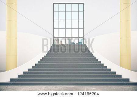 Stairs And City View