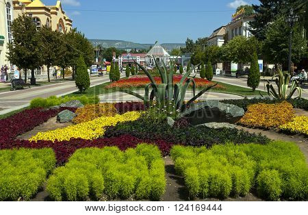 KISLOVODSK,RUSSIA - AUGUST 06,2013:Resort park - ornament and pride of Kislovodsk,Caucasus, Russia on August 06,2013
