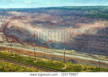 Iron ore mining. Mikhailovsky Mining and Processing Plant. Zheleznogorsk. Russia. Kursk Magnetic Anomaly ** Note: Soft Focus at 100%, best at smaller sizes