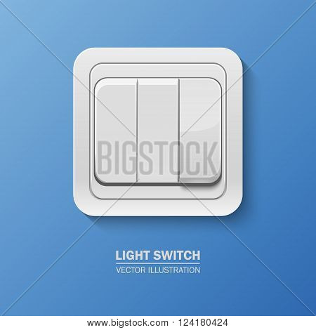 Background with realistic light switch . Vector EPS10 illustration.