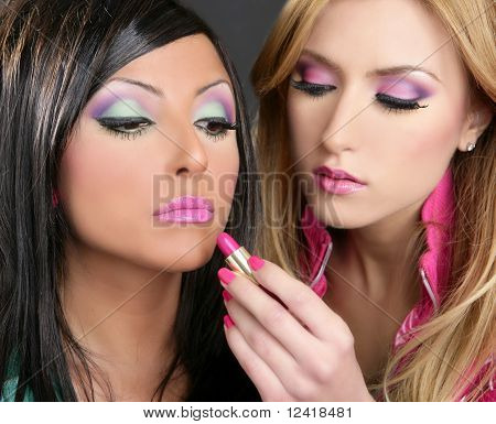 Lipstick Fashion Girls Doll Makeup Retro 1980S