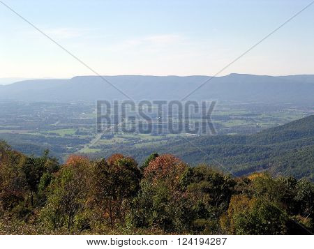 The beautiful landscape in Shenandoah National Park October 2004 USA