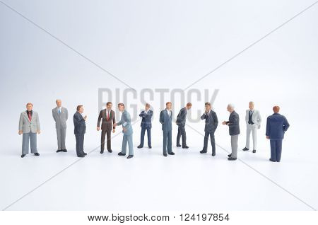 Group Of The Small Business Figure