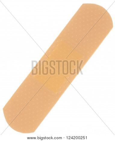 First-aid bandage. Object is isolated on white background without shadows.