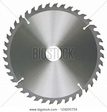 Circular saw blade isolated on white background without shadows